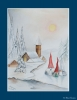 Aquarel Kerst met Jultomten